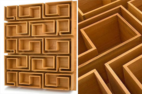 Woodloops Maze Bookcase