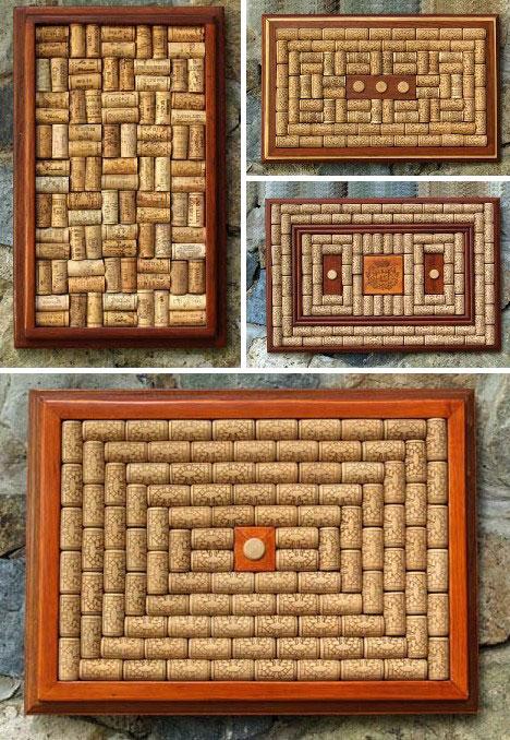 Put a cork in it 25 creative works of cork art design for Wine cork patterns