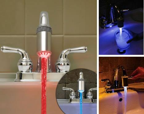 ThinkGeek LED Faucet. Funky Faucets  14 Futuristic Faucet  Sink   Basin Designs   Urbanist