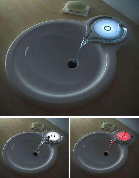 Glowing Ripple Faucet