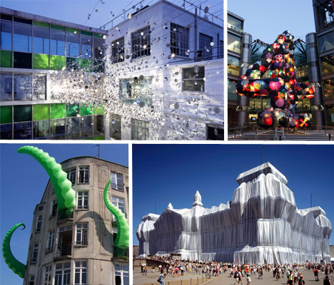 12 architectural art installations building for Art architectural
