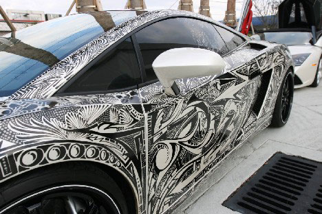 Style to go 15 examples of awesome automotive art urbanist for Car paint designs pictures