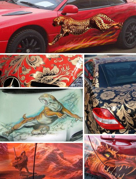 Style to Go: 15 Examples Of Awesome Automotive Art | WebUrbanist