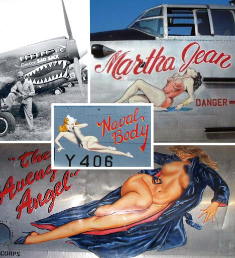 During WWII and the Korean War, nose art surged in popularity with