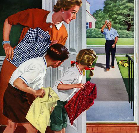 10 classic images from the golden age of advertising for Classic 50s housewife