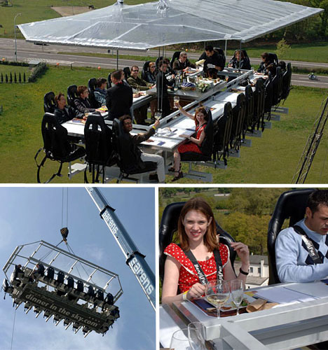 dinner in the sky Weird Restaurants