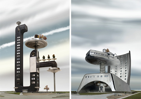 David Trautrimas coffee pot towers and iron apartments
