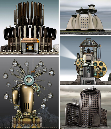 David Trautrimas steampunk buildings