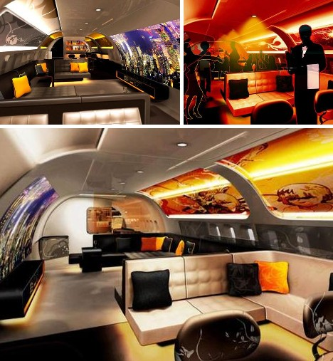 Designer Jet Interiors. Insane_Interiors_5a. Insane_Interiors_5b
