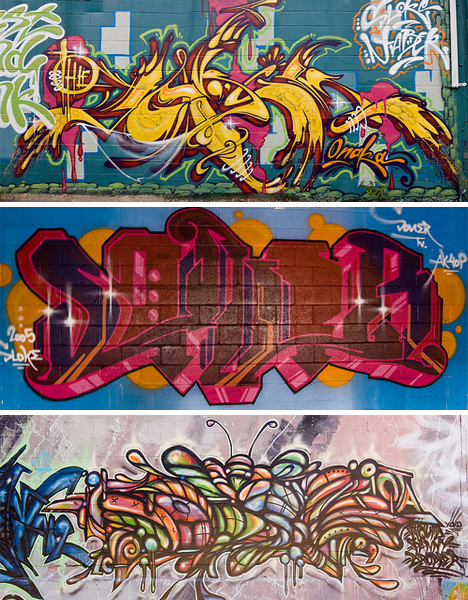 Graffiti Designs + Styles: Tagging, Bombing, Painting