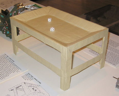 dice or snack table