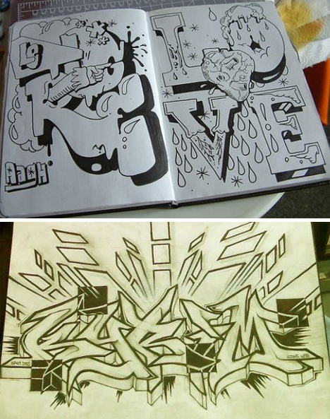 Graffiti Lettering: Cool Characters, Alphabets & Fonts ...