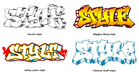 As Noted Above There Are Just Too Many Styles Of Graffiti Lettering To Name Them All Even If They Had Names Tend Morph And Combine When