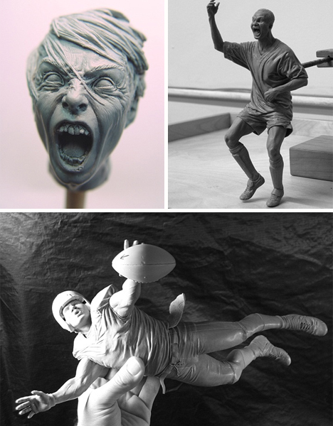 adam beene photorealistic action figure sculptures