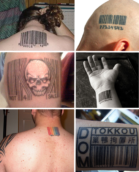 barcode tattoo. arcode tattoo designs. arcode