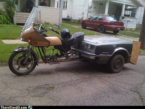 car hood trailer on motorcycle