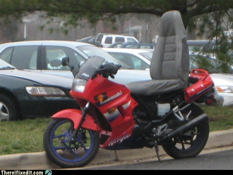 car seat on motorcycle