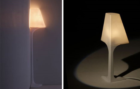 Quarter-Round Lamps Make Compact Corner Lighting