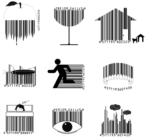 bar code logo. These 15 forms of arcode art