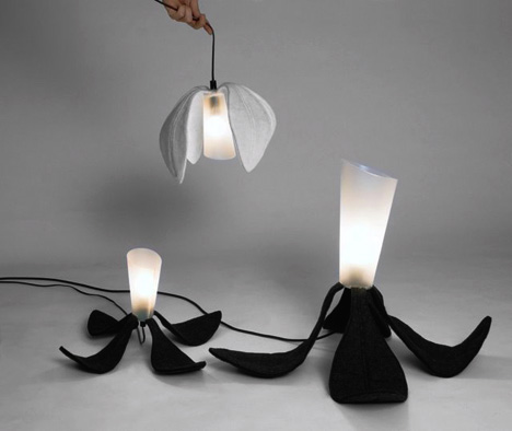 foldable-flower-light-fixture