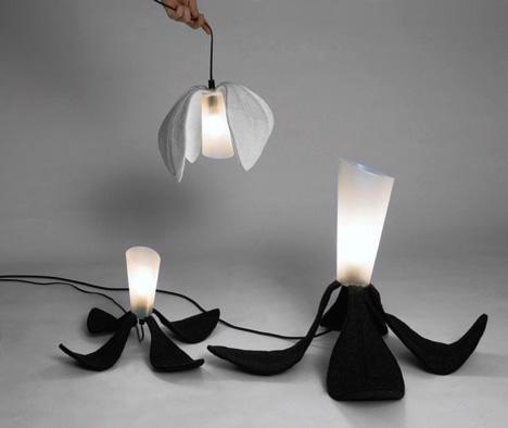 innovative lighting and design. Foldable-flower-light-fixture Innovative Lighting And Design G
