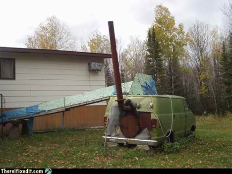 Do it yourself 14 silly and scary vehicle modifications for Whole house wood furnace