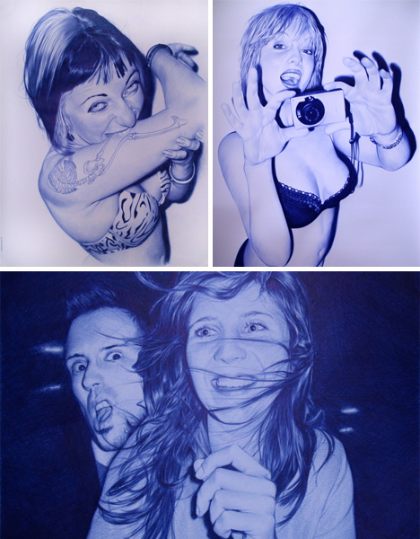 juan francisco casas ballpoint pen drawings women