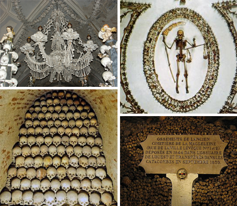 ossuaries bone rooms burial chambers
