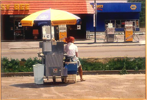 ralph goings hot dog cart photo realism