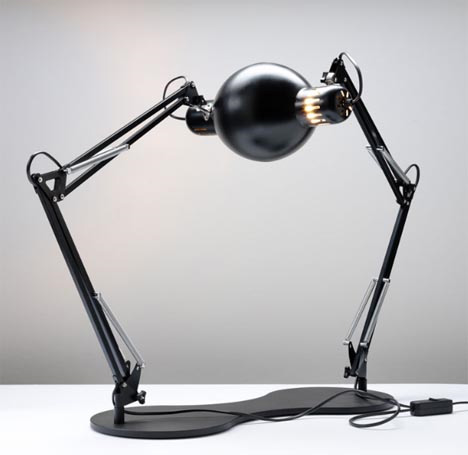 Surreal Self-Reflecting Table Lamp