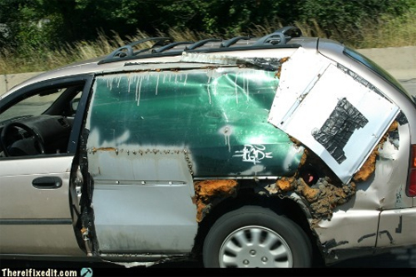 sheet metal side of car