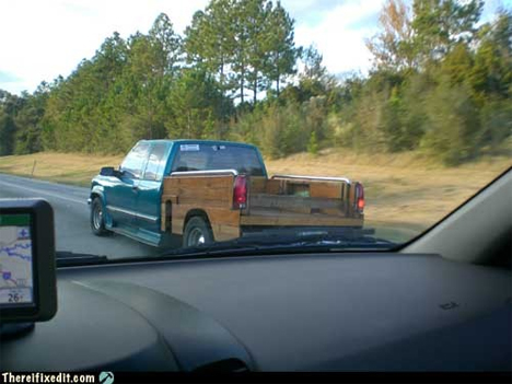 wooden back of truck