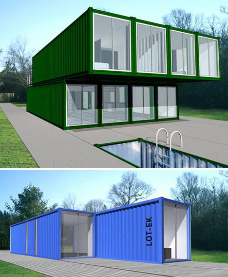 Lot ek container home kit urbanist - Shipping container home kit ...