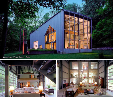 Bunny lane container home from adam kalkin urbanist for Steel shipping container home designs