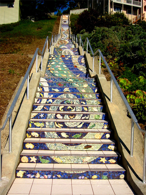 16th ave tiled steps san francisco
