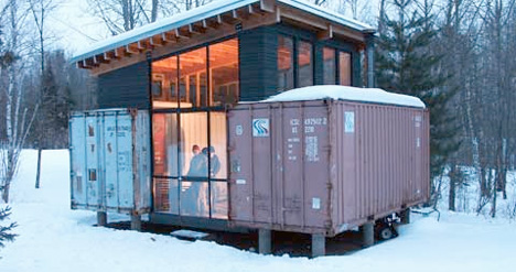 Image result for shipping containers cabin
