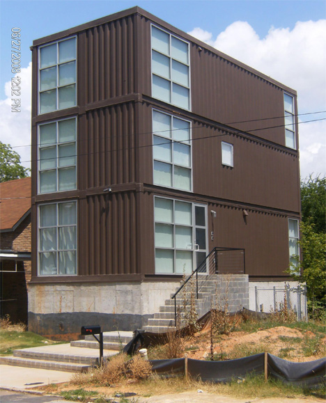 House Containers atlanta shipping container house from runkle consulting | urbanist