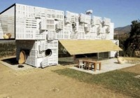 Shipping Container/Wooden Pallet Home by Infiniski