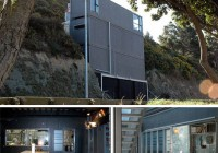 New Zealand Cliffside Shipping Container Home