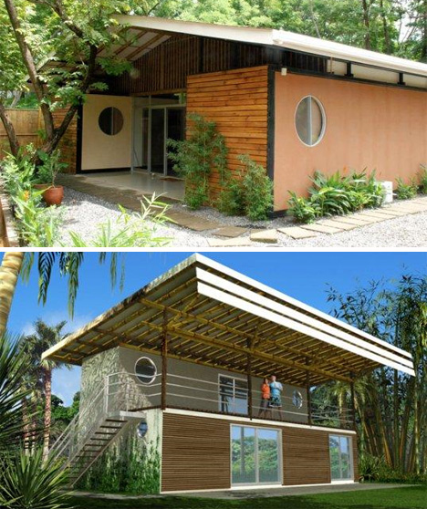 Bamboo Shipping Container Home