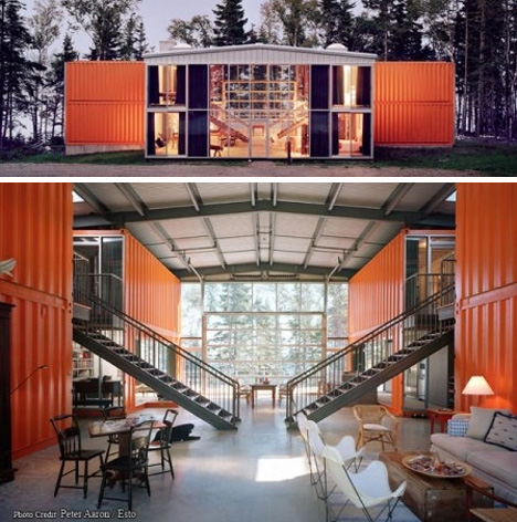 12 container house by adam kalkin urbanist - Cargo container home designs ...