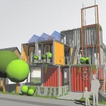 Containertecture: Shipping Crate Based Buildings by LOT EK