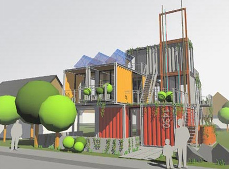 Hybrid architecture cargotecture urbanist for Architecture hybride
