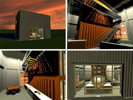 99 000 house from adam kalkin urbanist for Steel container home plans