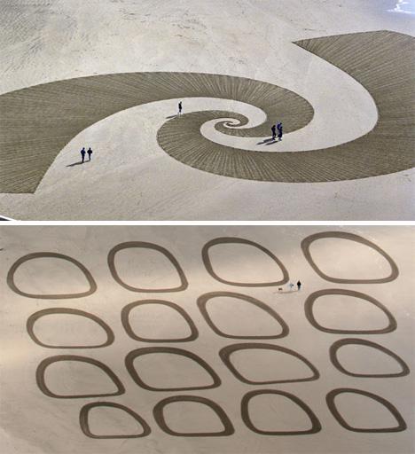 Jim Denevan sand art graffiti