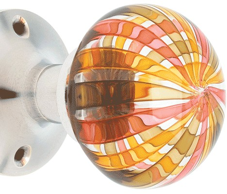 Hand Blown Glass Doorknobs