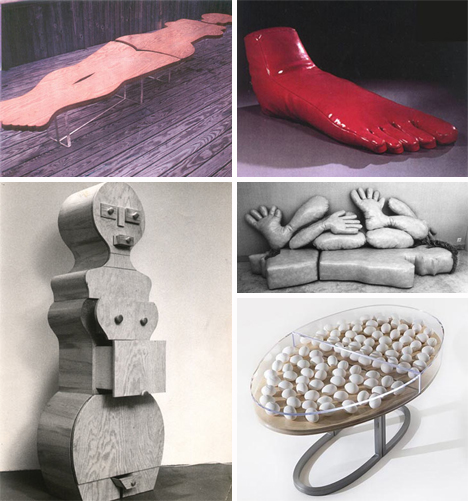 body parts furniture functional art