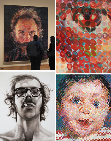 chuck close photorealistic paintings