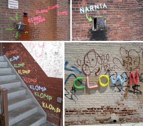 d billy site interventions street art tape graffiti