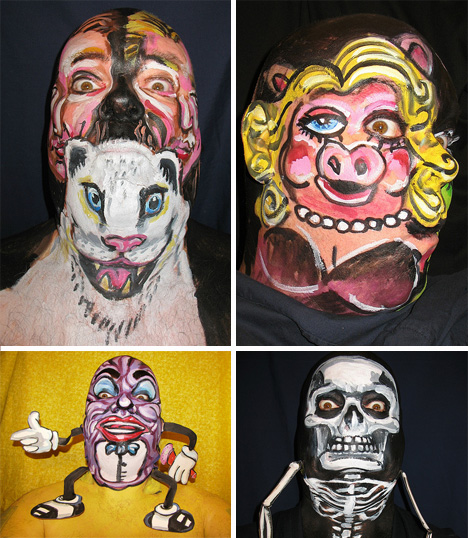 face painting incredible realistic body painting